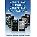 General mobile Phone Unlocking and Repair A3 Poster Blue