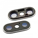 Iphone X Rear Camera Lens With Holder - Silver - OEM packs of 5 pcs