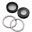 Iphone 11 Rear Camera Lenses With Brackets - White - OEM