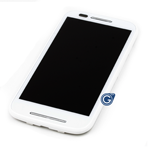Motorola Moto E (XT1021) Complete Lcd and digitzer with frame in White