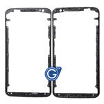 Motorola Nexus 6 LCD Frame Front Bezel in Black