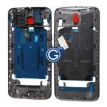 Motorola Moto X Style Centre Board / Bezel Frame in Black with Camera Lens and Earphone Jack