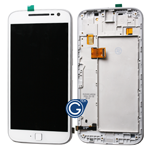 Motorola Moto G4 Plus XT1642 Complete LCD and Digitizer Assembly with Frame in White