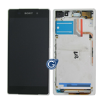 Sony Xperia Z2 Complete lcd and digitizer with frame in white