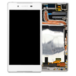 Genuine  Sony (E6633/E6683) Xperia Z5 Dual Complete Lcd with Digitizer and Frame in White- Sony part no: 1298-5921